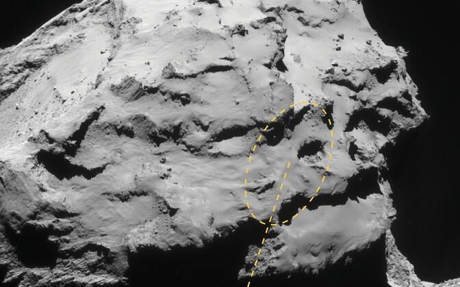 Rosetta loodetakse kukutada piirkonda Ma'at.