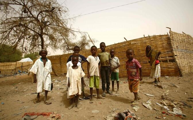 Sudaani lapsed tänavu aprillis Põhja-Darfuris.