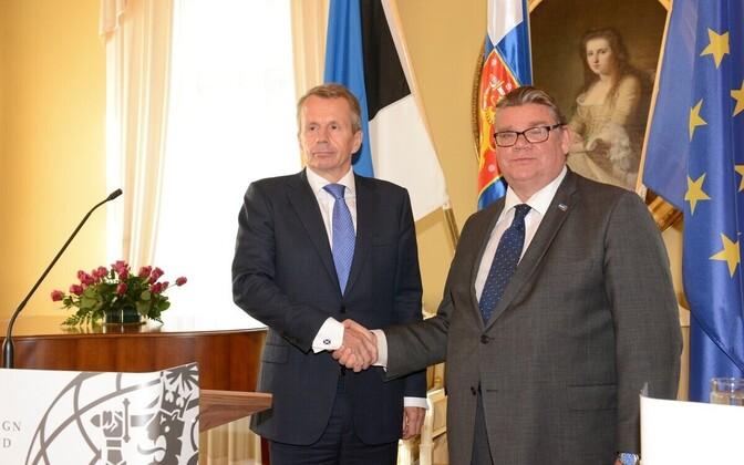 Jürgen Ligi ja Timo Soini.