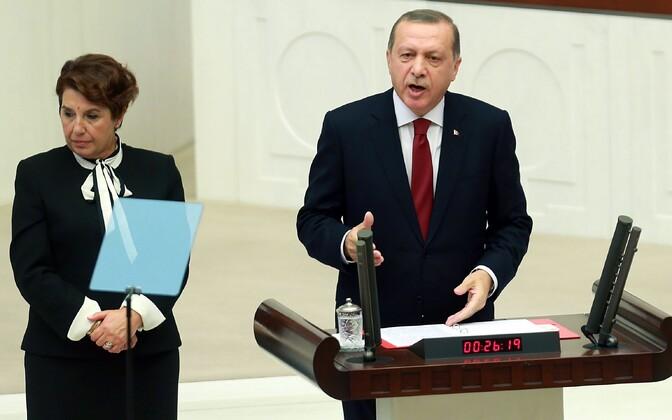 Türgi president Tayyip Erdogan.