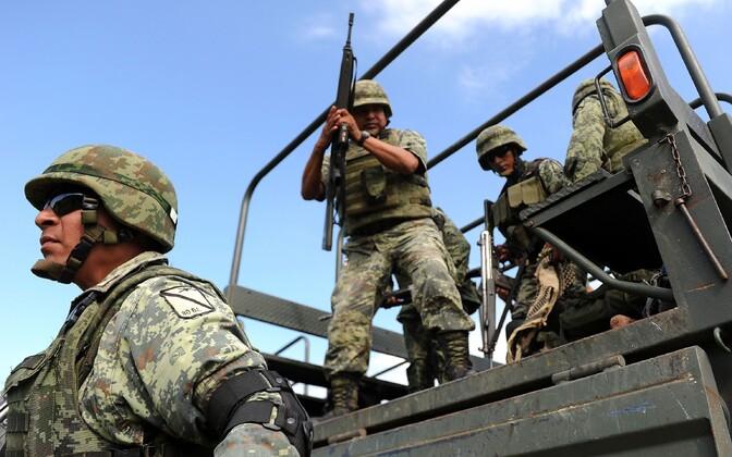Mehhiko sõdurid.