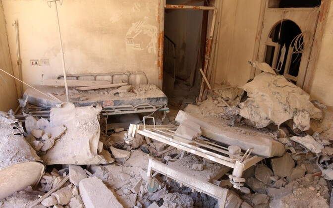 Pommitamise tagajärjed Aleppo mässuliste piirkonnas 1. oktoobril.