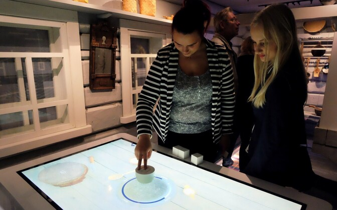 Museum visitors checking out one of the many interactive displays.