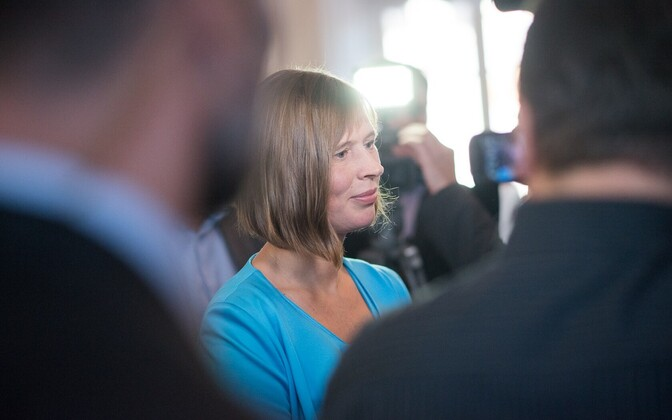 Kersti Kaljulaid after her election on Monday, Oct. 3, 2016.