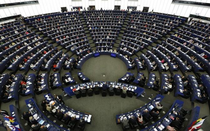 Euroopa Parlamendi istungitesaal Strasbourg'is.