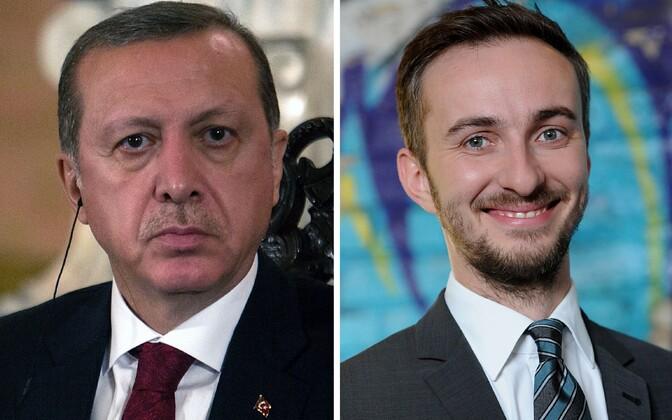 Türgi president Tayyip Erdogan ja Sebastian Böhmermann.