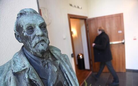 Скульптура Альфреда Нобеля.