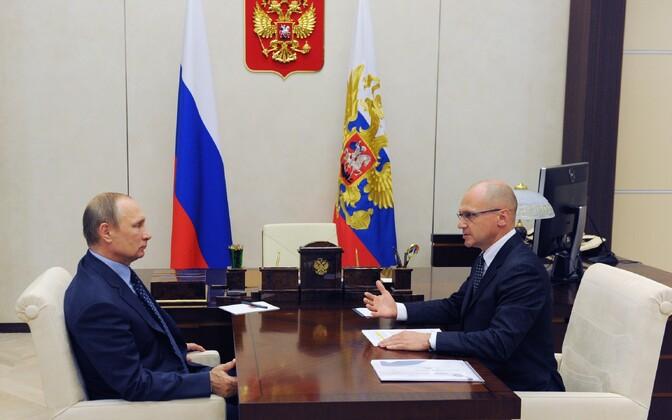 Vladimir Putin ja Sergei Kirijenko 12. septembril Kremlis.