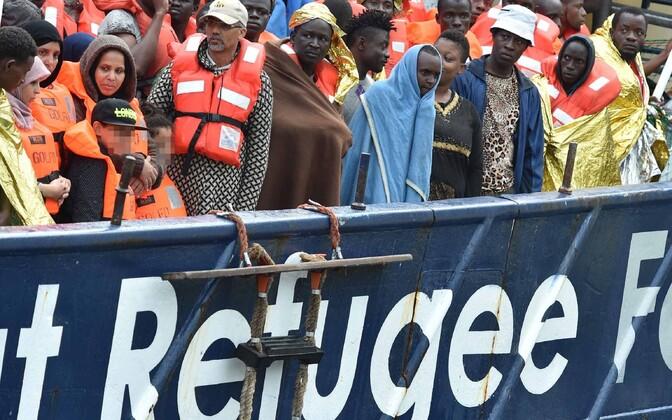 Refugees in the Mediterranean.