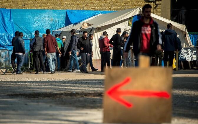 Iraagi kurdid Grande-Synthe sisserändajate laagris Põhja-Prantsusmaal 4. oktoobril 2016.