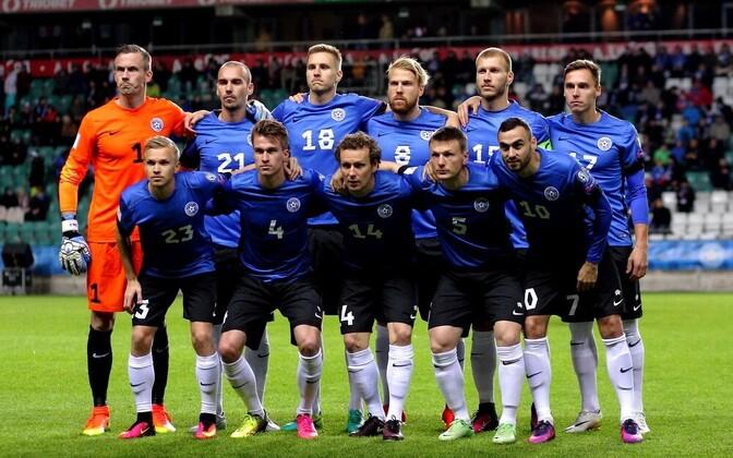 Сборная Эстонии по футболу пока довольствуется низким местом в мировом рейтинге.