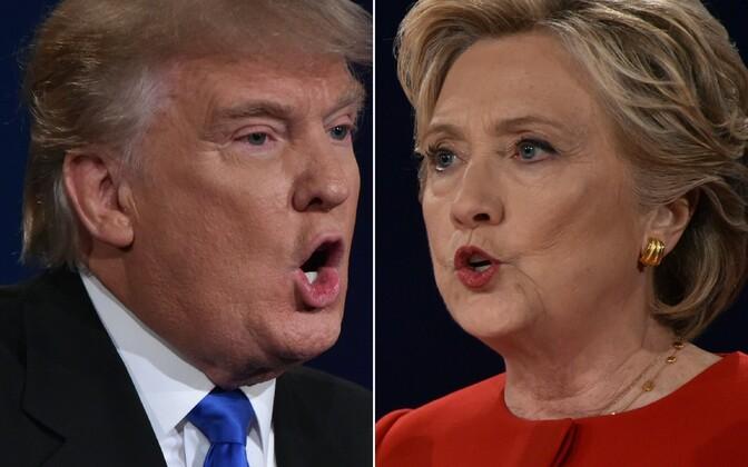 Donald Trump ja Hillaryt Clinton.