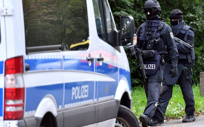 Saksa politsei eriüksuslased 9. oktoobril Chemnitzis.
