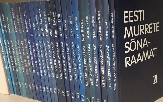 Estonian dialect dictionaries.