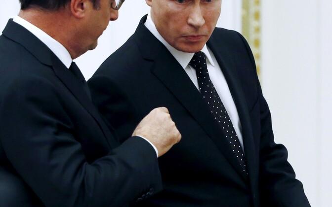 Hollande ja Putin 2015. aasta novembris Moskvas.