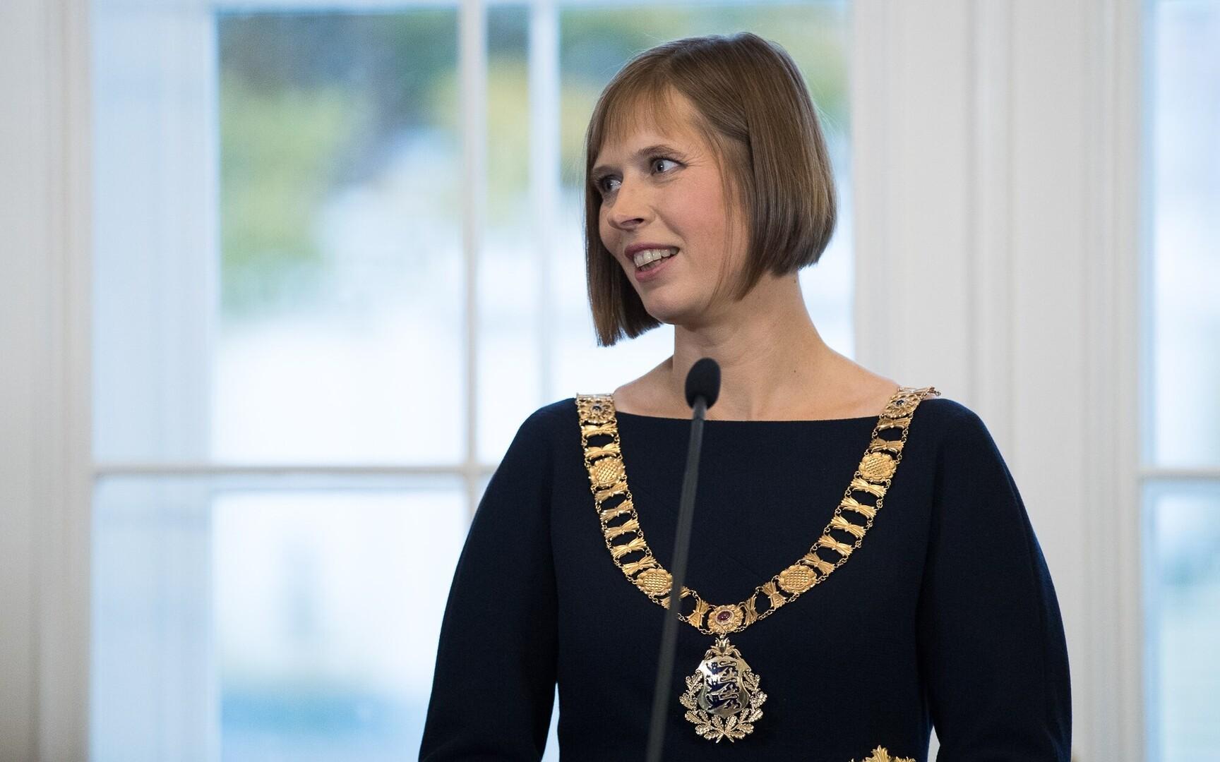 President Kaljulaid Congratulates U S President Elect