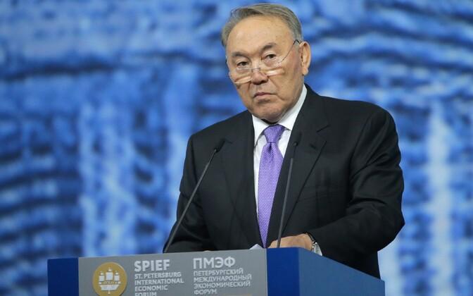 Nursultan Nazarbajev 2016. aasta juunis Peterburis majandusfoorumil.