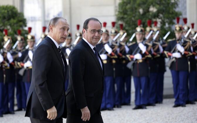 Putin ja Hollande Élysée palees 2015. aasta oktoobris.