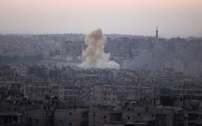 Aleppo Bustan al-Basha piirkonna pommitamine 5. oktoobril.