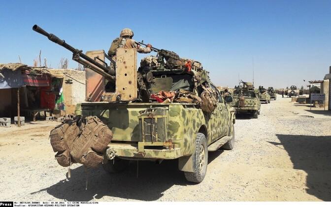 Sõjaväemasinad Lashkar Gah's sõjalise operatsiooni ajal Talibani vastu.