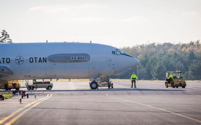 A NATO AWACS aircraft landed at Ämari Air Base on Tuesday. Oct. 11, 2016.