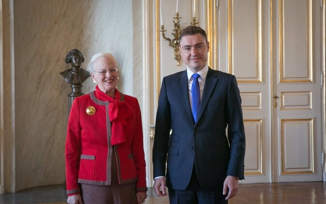 Her Majesty Queen Margrethe II of Denmark with Estonian Prime Minister Taavi Rõivas. Oct. 14, 2016.