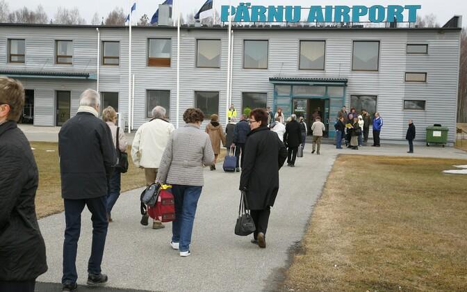 The terminal building in 2010, when Pärnu Airport still received charter flights.