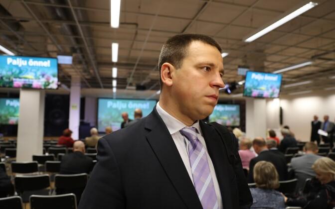 Second Vice President of the Riigikogu Jüri Ratas (Center).