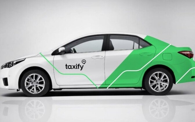 A car in Taxify livery, as used in Tallinn.