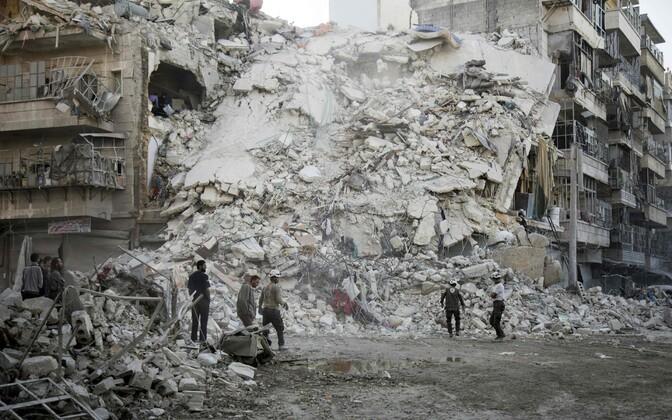 Olukord Aleppos 17. oktoobril.