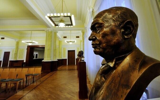 Бюст Константина Пятса в Банке Эстонии.