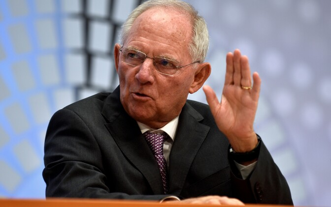 Saksamaa rahandusminister Wolfgang Schäuble.