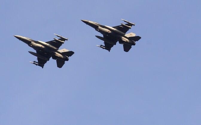 Belgia õhuväe hävituslennukid F-16 FAB.