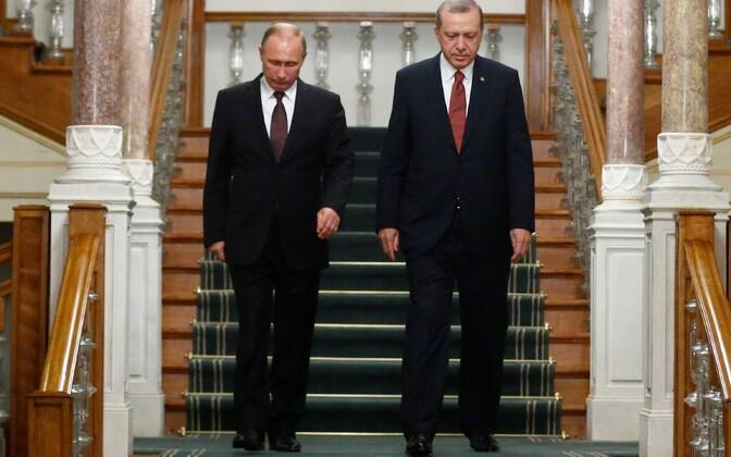 Venemaa president Vladimir Putin ja Türgi president Tayyip Erdogan.