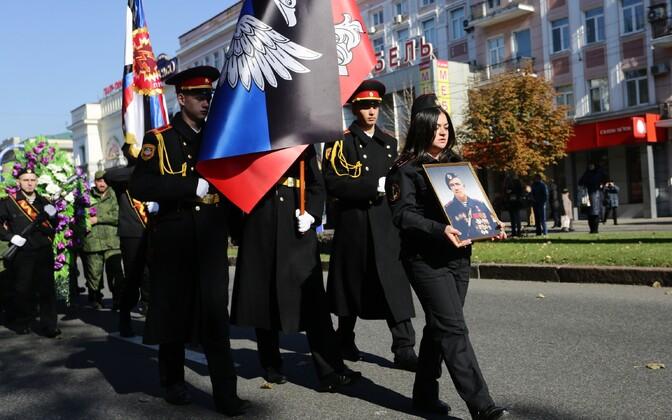 Sõjapealik Motorola matusetseremoonia Donetskis 19. oktoobril.