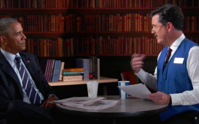Obama ja Colbert/Randy