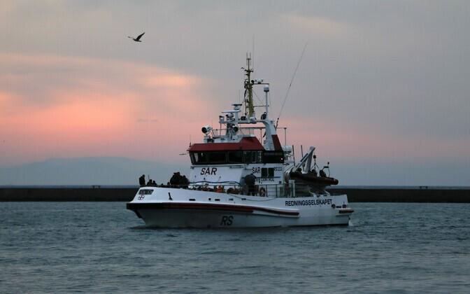 A Frontex patrol boat in Lesbos, Greece.
