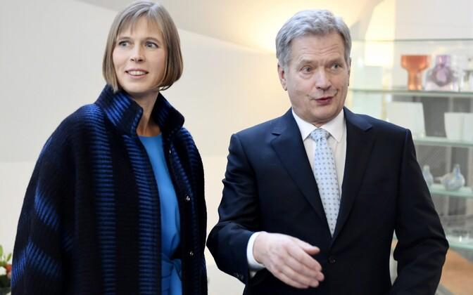 Керсти Кальюлайд в качестве президента нанесла один из своих первых официальных визитов в Финляндию.