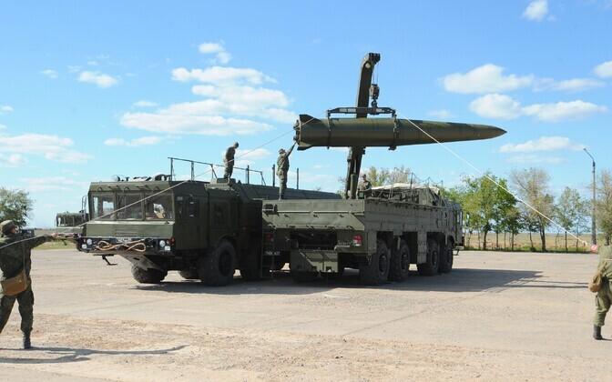 Iskander-M üksuste õppused Astrahani oblastis 2015. aasta mais.