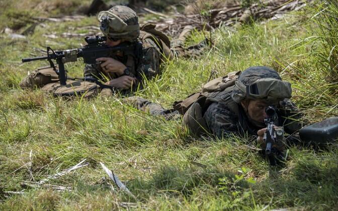 USA merejalaväelased õppusel, arhiivifoto.