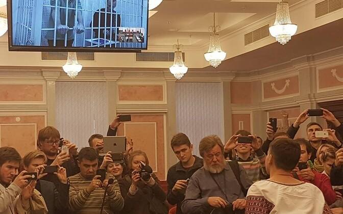 Nadia Savtšenko 26. oktoobril Moskvas.