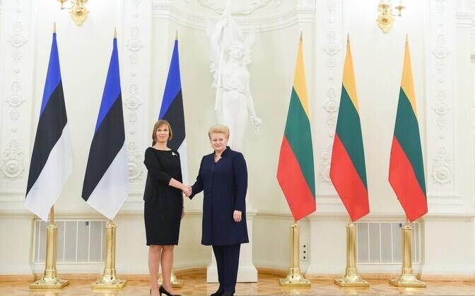 Kersti Kaljulaid ja Dalia Grybauskaite 26. oktoobril Leedus.