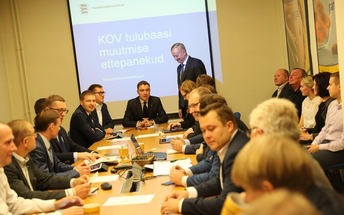Reform Party Board of Directors meeting at the party's head office in Tallinn. Oct. 26, 2016.