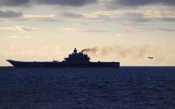 Norra kaitsejõudude tehtud foto Vene lennukikandjast Admiral Kuznetsov 19. oktoobril Torndheimi lähistel rahvusvahelistes vetes.