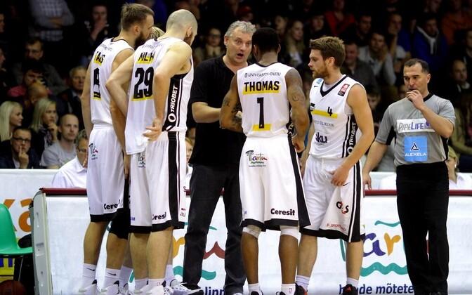 Баскетболисты команды Тартуского университета.