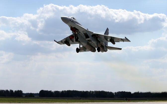 Russian Su-35 fighter jet. Image is illustrative