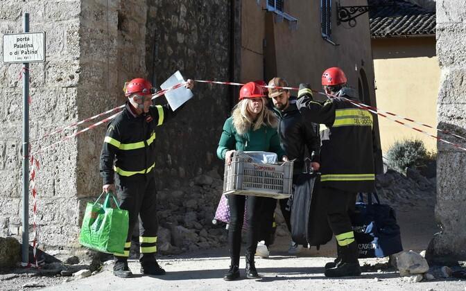 Maavärina tekitatud purustused Norcias.