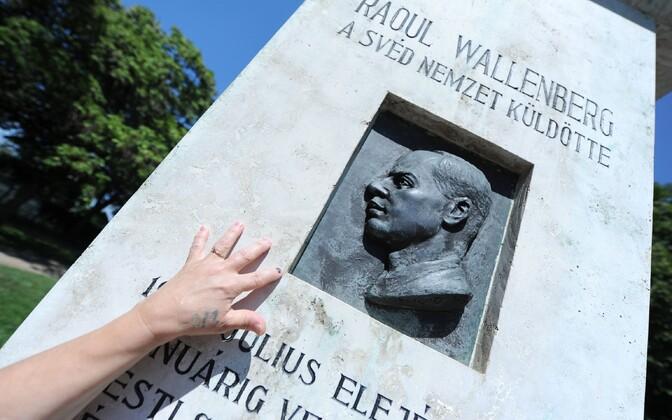 Raoul Wallenbergi mälestuskivi Budapestis.