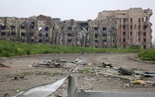Hävinud Donetski rahvusvahelise lennujaama hoone Ukrainas.