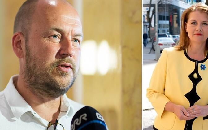 MP Artur Talvik (Free) and Minister of Entrepreneurship Liisa Oviir.